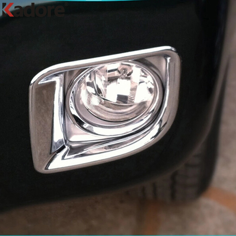 цена For Toyota Land Cruiser J200 LC200 2012-2016 ABS Chrome Front Foglight Fog Light Lamp Cover Trim Car Cap Styling Accessories