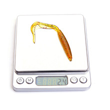 8pcs/lot Long Tail Grubs 10cm 2.4g Curly Tail Soft Lure Long Curly Tail Fishing Lure Artificial Bait Soft Fishing Lure