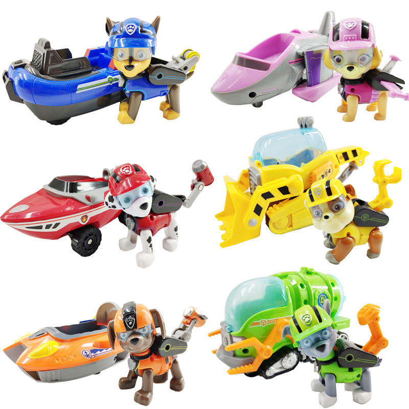 Paw Patrol Dog Sea Patrol Vehicle Rescue Puppy Set Toys Patrulla Canina Action Figures  Chase Marshall Ryder Model Toy Kids GiftPaw Patrol Dog Sea Patrol Vehicle Rescue Puppy Set Toys Patrulla Canina Action Figures  Chase Marshall Ryder Model Toy Kids Gift