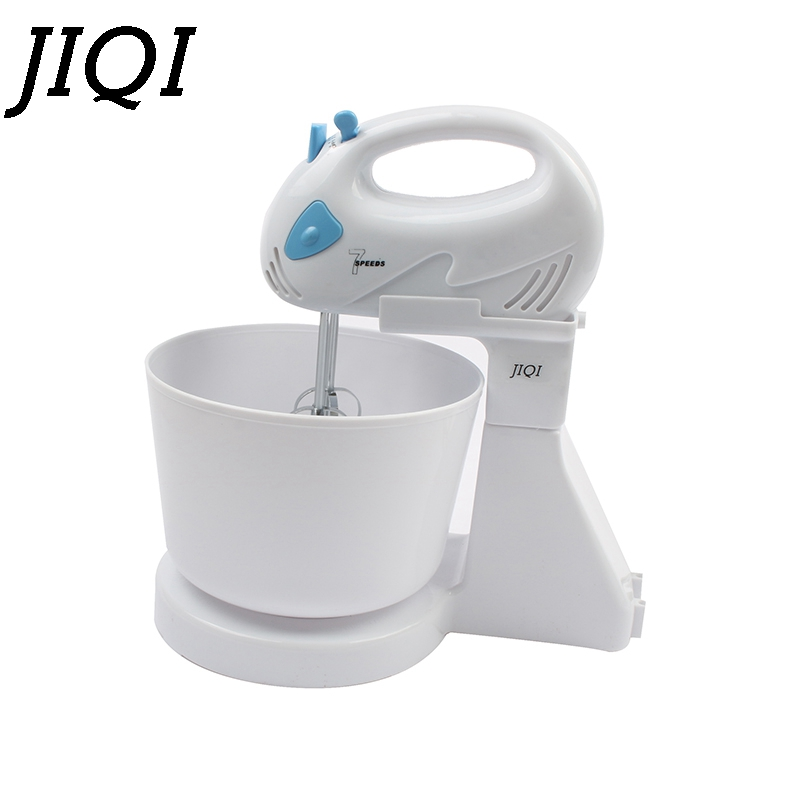 все цены на DMWD 7 Files Dough Mixer Egg Beater Food Blender Kitchen Electric Food Processor hand held cream milk Foamer whisk Stirrer 110V онлайн
