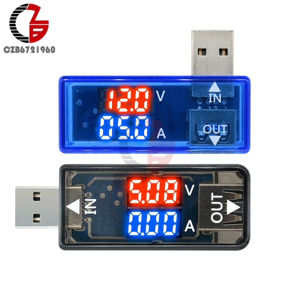 5V USB Tester LED Digital Voltmeter Ammeter Power Charger Doctor Bank Indicator Voltage Current Meter Volt Amp Tester Detector