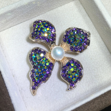 цена на ZHBORUINI High Quality Natural Freshwater Pearl Brooch Pearl Flower Brooch Purple Color Pearl Jewelry For Women Gift Accessories
