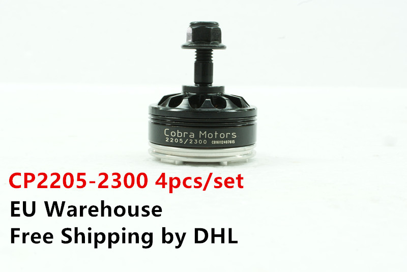 EU warehouse Cobra Motor CP2205-2300, 2300Kv, 4pcs/Set  Brushless Motor,  Free Shipping  for FPV racing, Mini quad racing mfs motor motorcycle part front rear brake discs rotor for yamaha yzf r6 2003 2004 2005 yzfr6 03 04 05 gold