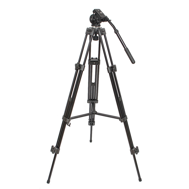 WF-717 Professional Heavy Duty Video Camcorder Tripod with Fluid Head For Video Camera DSLR SLR Camcorder
