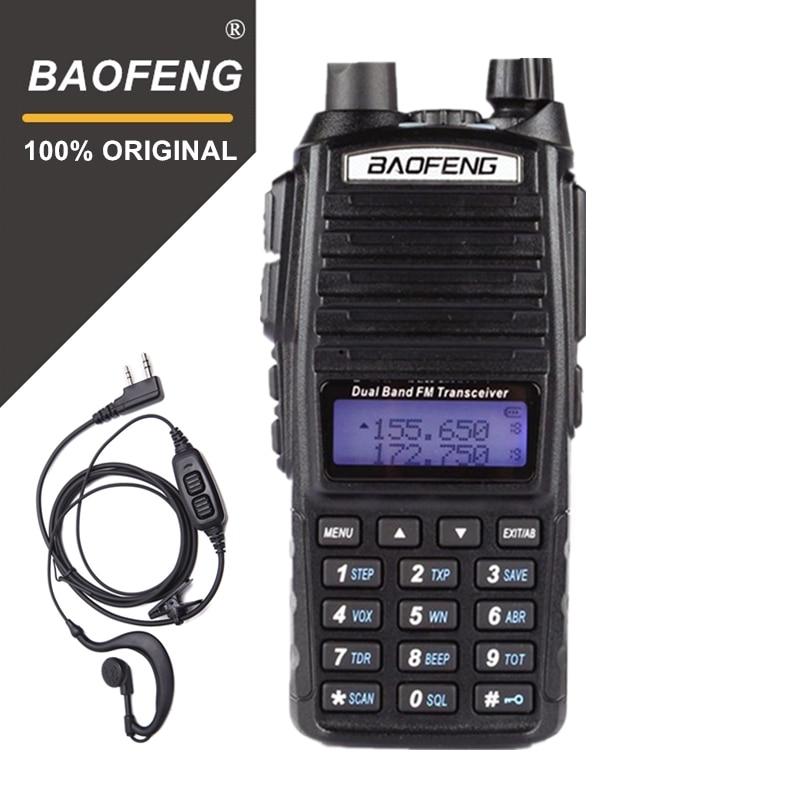 100% Original Baofeng UV-82 Walkie Talkie Dual Band Radio Intercom UV82 Pofung Radio de dos vías VHF UHF portátil FM Ham transceptor