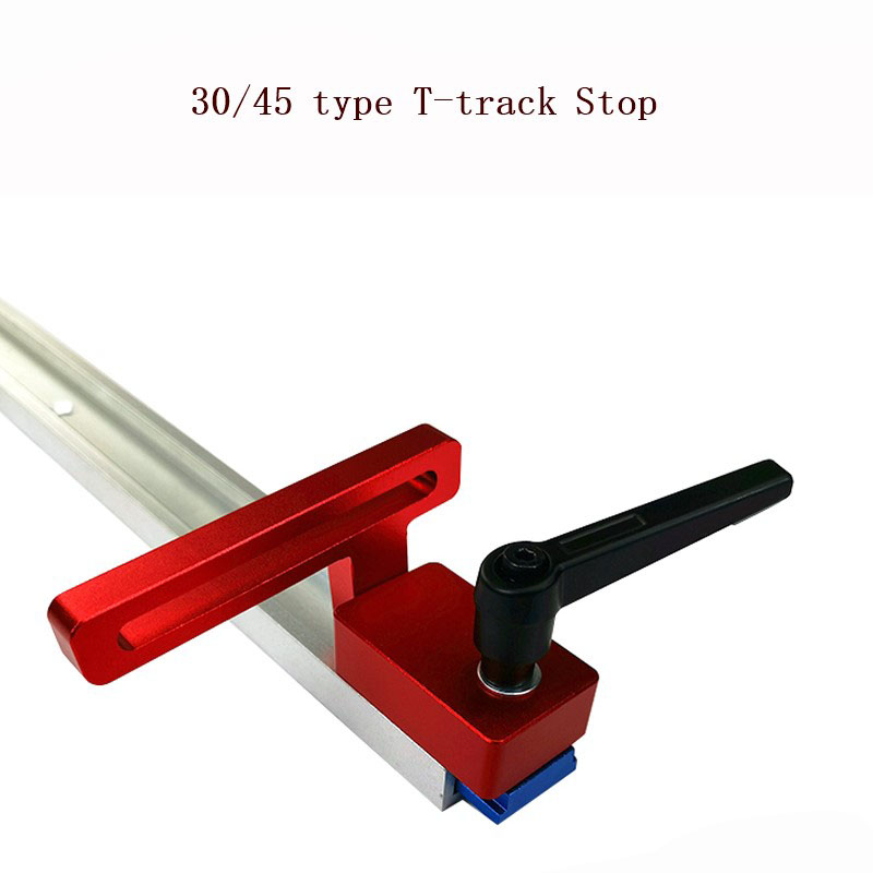 30/45 Woodworking Sliding Slot Limiter Track Stop Track Stop For T-Slot T-Tracks Woodworking Tool Miter Track