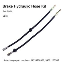 2x Front Brake Hose Brake Hose For BMW 3 3ER E46 316 318 320 323 325 330 Z4#G40(China)