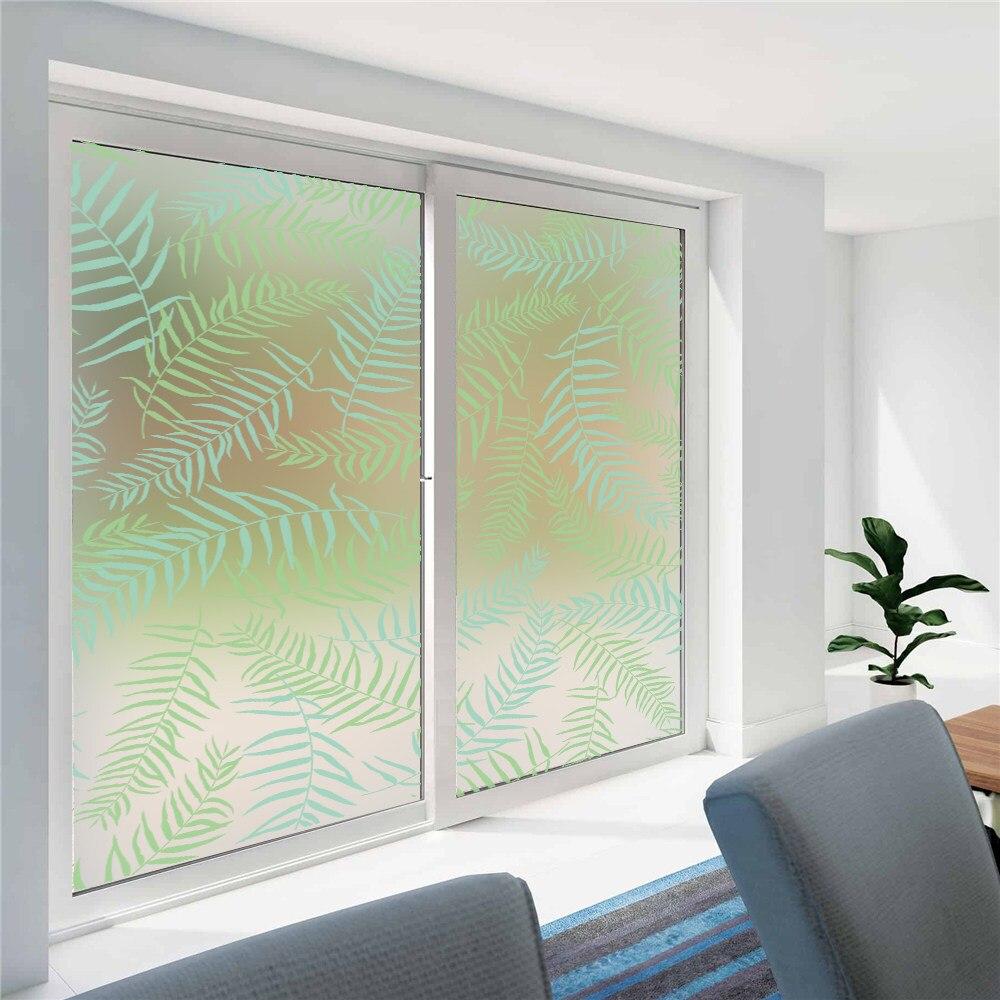 Online Shop 45x100cm3937x1771 Frosted Window Floral Flower Film