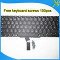 """Brand New SP Español teclado 100 unids tornillos del teclado Para Macbook Air 11.6 """"A1370 A1465 2010-2015 años"""