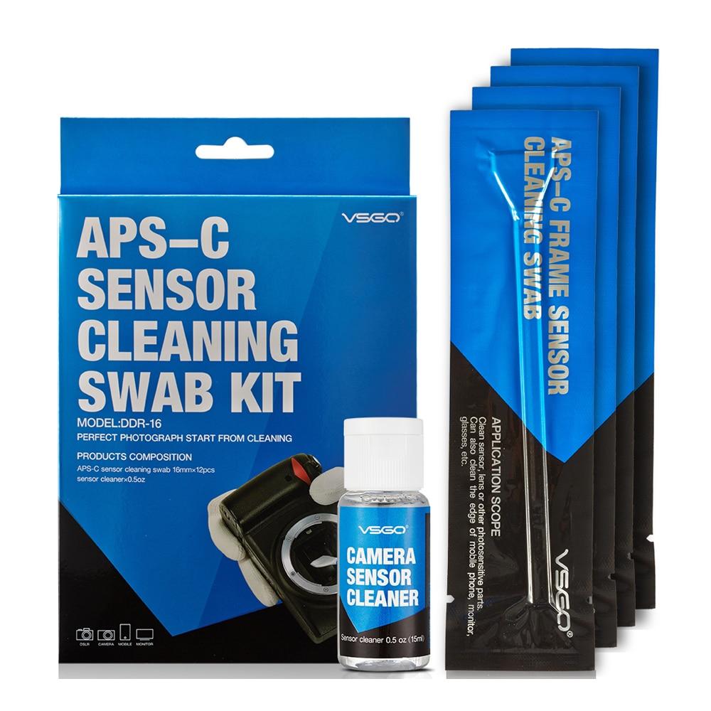 Professional APS-C Sensor Cleaning Swab Kit 12pcs Swab Sticks 15ml Cleanser Pack For DSLR Sensor Lens Screen Keyboard Glasses.