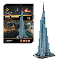 64pcs/lot Kids Puzzles Paper New Assemble Toys Paper DIY Burj Dubai Building Model Puzzle 3D  for Childrens 66*25*22CM 2Set
