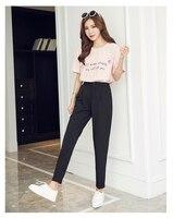 2017, Новая мода Повседневные штаны для мужчин женские Broadcloth карманы, ботильоны-Длина черный, розовый Размеры S M L XL XXL 3XL Для женщин Брюки для де...