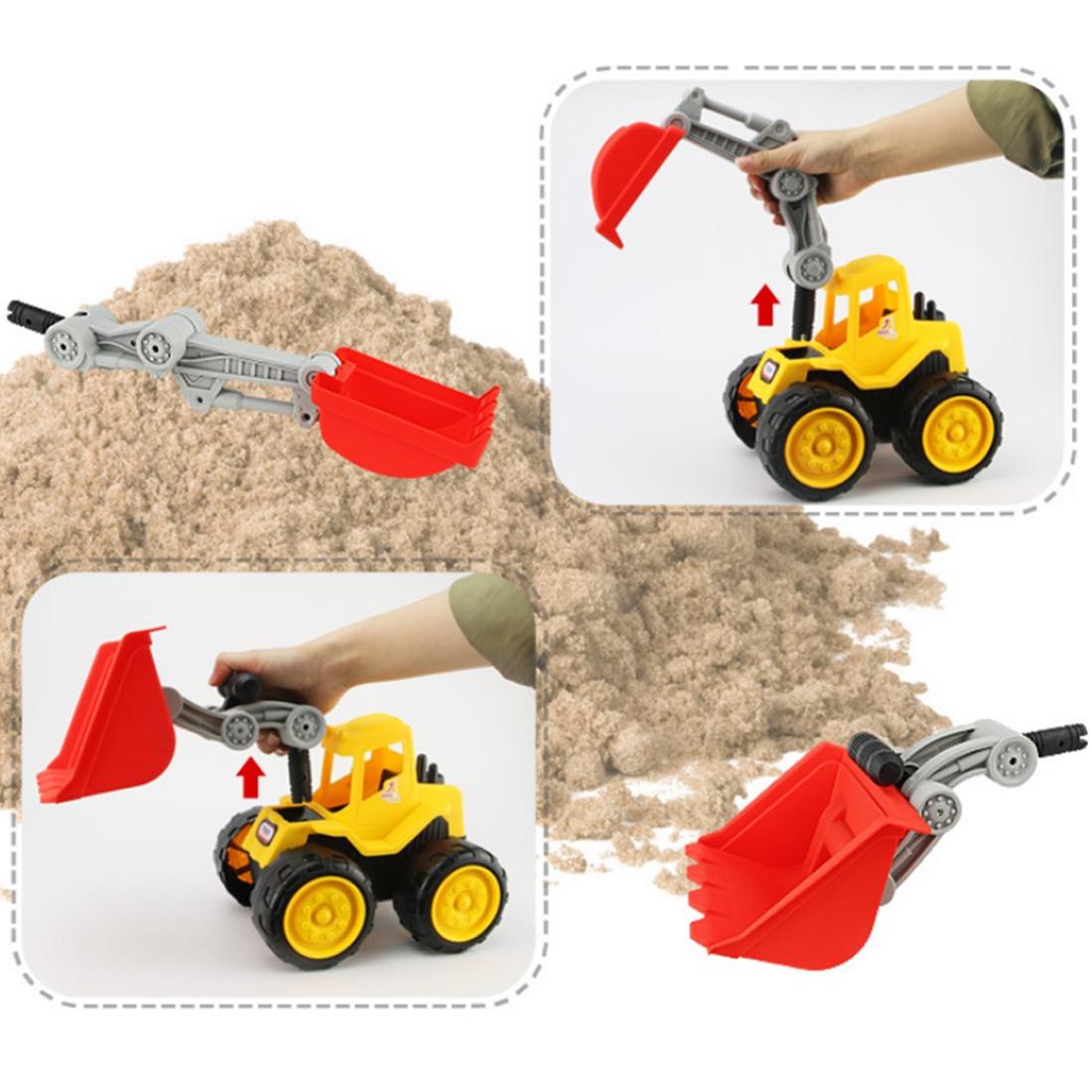 Surwish Beach Excavator Children Large Machineshop Truck Series Simulation Kids Fancy Toys - Color Random