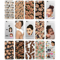 For Samsung Galaxy J5 S8 A5 S5 S6 S7 Kimoji Kim Kardashian kanye west north kylie jenner Soft TPU Phone Case Cover Coque
