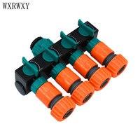 Wxrwxy Garden Tap 4 Way Tap Water Splitter Cranes Garden 3 4 Hose Connector For 20mm
