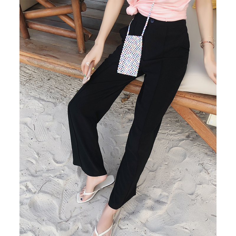 Mishow   Wide     leg     pants   female summer new Korean version of black loose trousers women casual streetwear   pants   MX19B2724