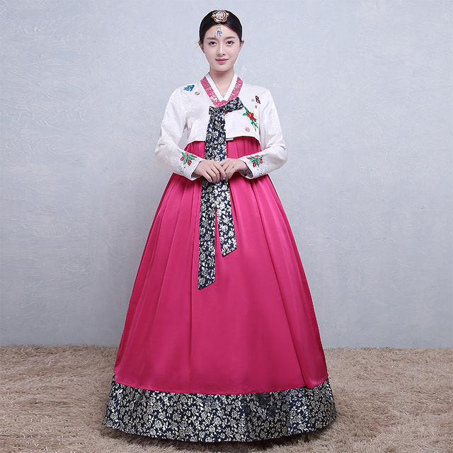 825f0c866474 Korean Traditional Royal Women Clothing Hanbok Dress National Dance ...