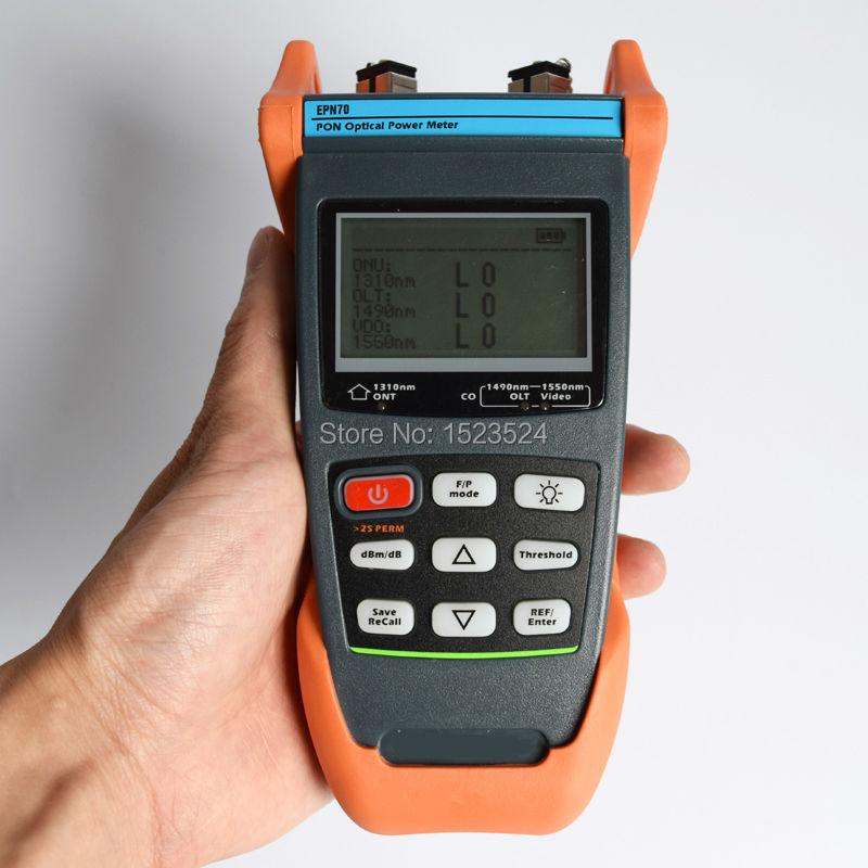 EPN70 نسخه انگلیسی دستی BPON / EPON / GPON PON فیبر نوری سنج با اتصال SC / APC