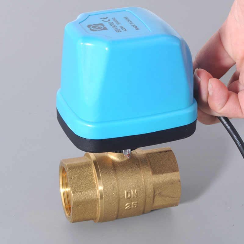 Specification : DN20, Voltage : DC5V, Wiring Control : CN02 AC220V DC5V DC12V DC24V Electric brass ball valve 2 way valve motorized valve for water DN15 DN20 DN25 DN32 DN40 Inlet