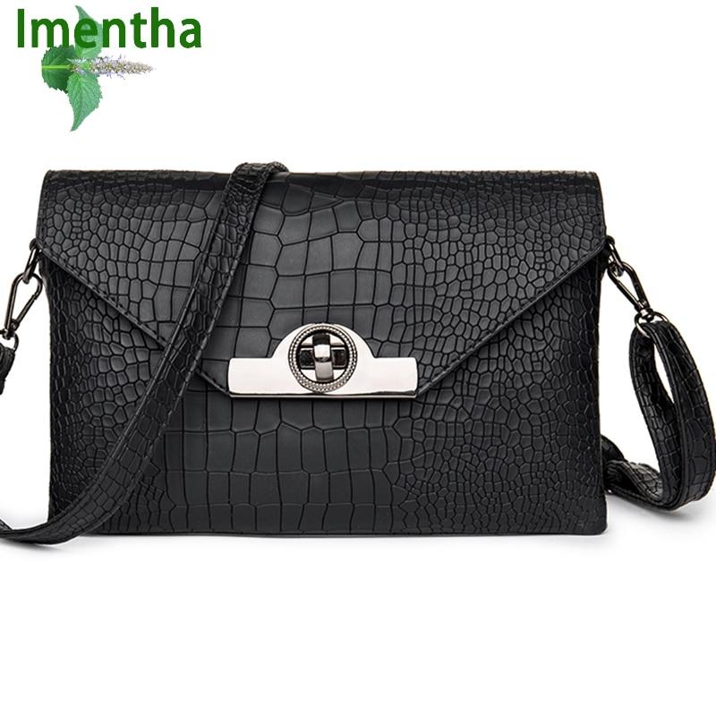 2017 de la moda negro de las mujeres bolsos de hombro de las mujeres bolsos de c