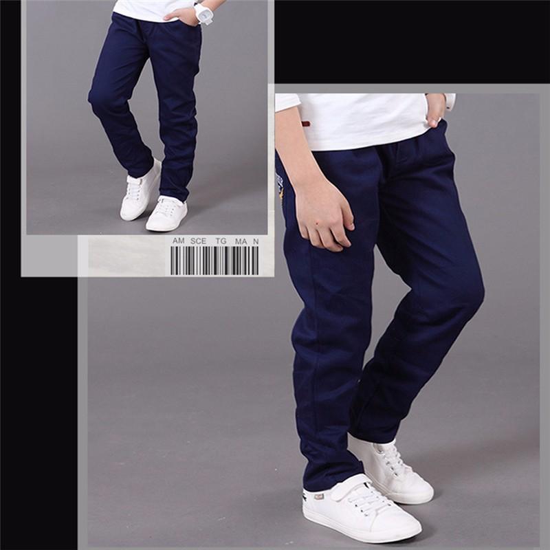 HTB1FIs1OVXXXXcLaXXXq6xXFXXXq - boys pants kids jeans 2018 casual Spring Solid Cotton Mid Elastic Waist Pants for Boy jeans kids Clothing Children Trousers p023