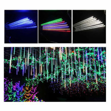 8pcs/Set Multi-color 30CM Meteor Shower Rain Tubes AC 110-240V Christmas String Light Garden Wedding Party Holiday Tree Decor