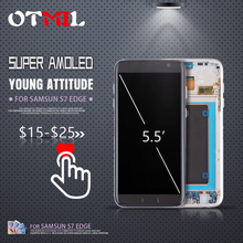 OTMIL Burn Shadow For SAMSUNG Galaxy S7 Edge LCD Display Touch Screen with Frame Digitizer S7edge Disply G935 #1