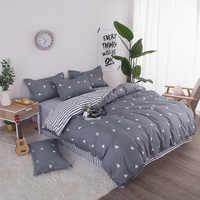 Комплект постельного белья, Одноместный двуспальный, двуспальный, большой, пододеяльник, одеяло, мягкий Чехол на подушку, хлопковая кровать...