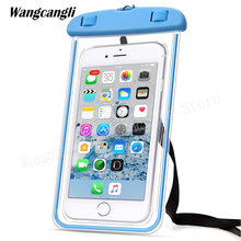Universal phone fluorescent waterproof pouch cover for iPhone xiaomi Mobile cases Bag wangcangli