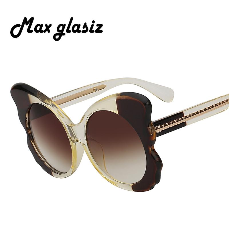 2018 New Trend Cat Eye Big Frame Sunglasses Women Men Oversize Butterfly Sun Glasses Lady Adult Retro Unique Eyeglasses A Great Variety Of Goods Women's Glasses