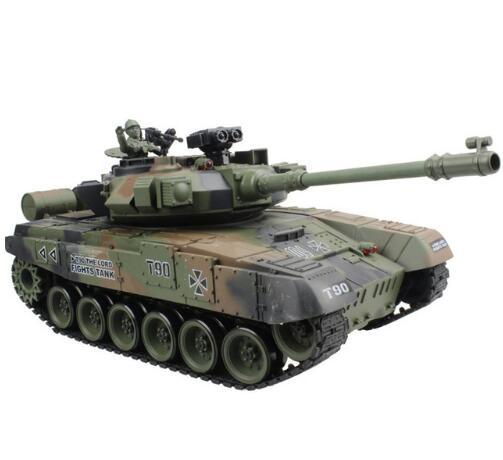 Réservoir RC réservoir de bataille principal T-90 russe modèle 15 canaux 1/20 avec son et tir balle effet recul modèle de réservoir jouets électroniques