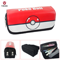 Cartoon Pokemon Pokeball Pikachu School Pencil Case Pen Pouch Phone Makeup Bag Cosmetic Case Bag For Girls Boys Kids Lady Women
