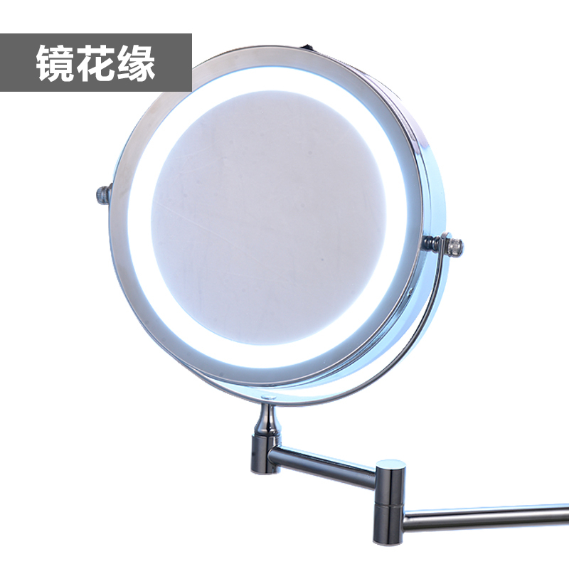 7 Inch Dual Arm Extend Bathroom Mirror With Battery Led Light 2 Face Wall Hanging Makeup Bath 5 X Magnification In Decorative Mirrors From Home