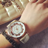 New Arrival Super Cool Fashion Quartz Watch Rose Flower Print Leather Watches Women Watch Floral PU