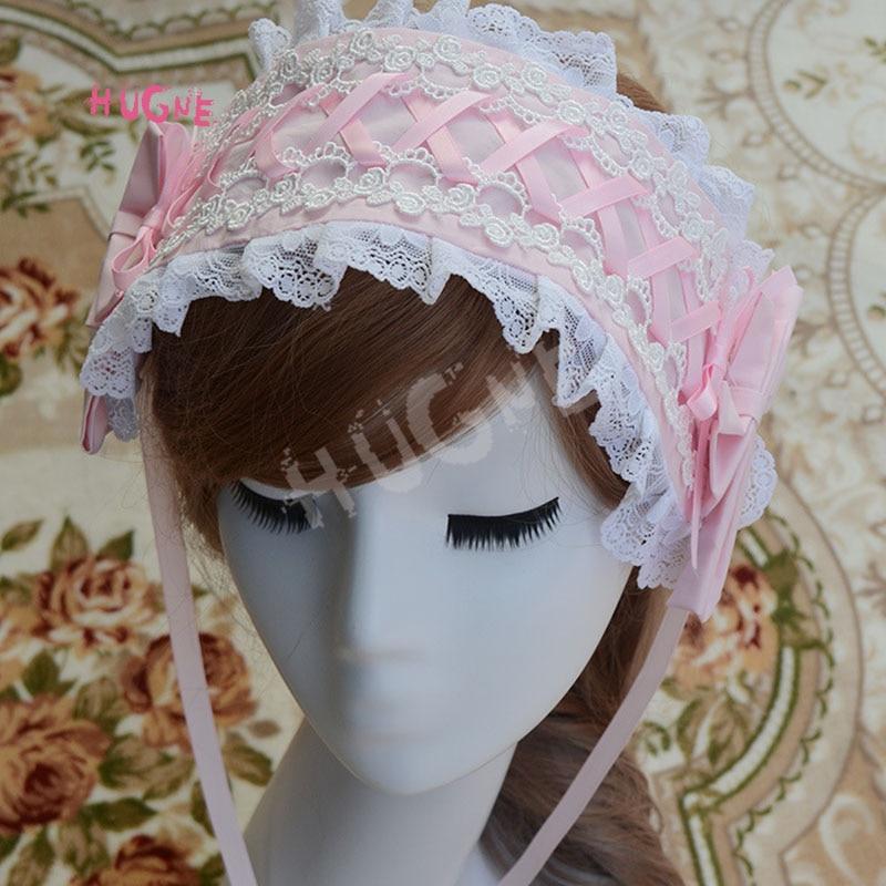 Sweet-New-Lolita-Lace-Headband-Pink-Blue-White-Black(5)