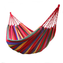 Portable Outdoor Furniture Hammock Garden Swing Hanging Chair Hang Swinging Outdoor Camping Swing Canvas Red/ Blue Stripe