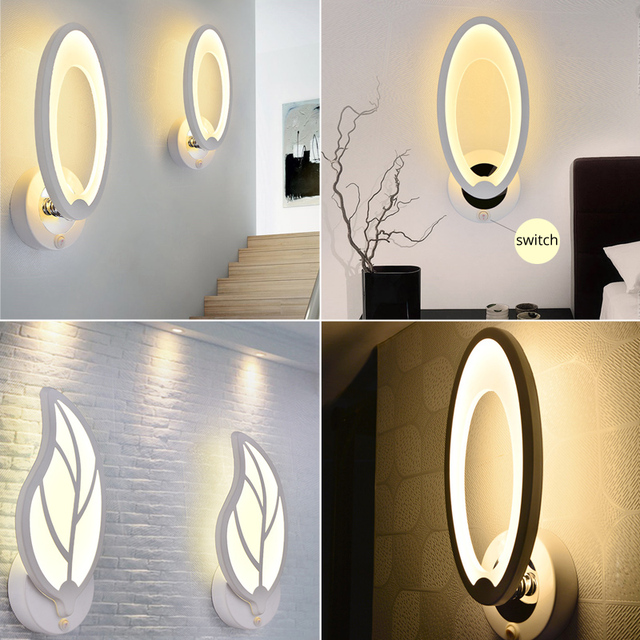 Wall Lamps Sconce With Switch Bedroom Home Modern  5