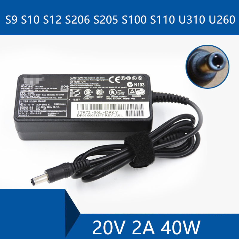 Laptop AC Adapter DC Charger Connector Port Cable For <font><b>Lenovo</b></font> S9 S10 S12 <font><b>S206</b></font> S205 S100 S110 U310 U260 image