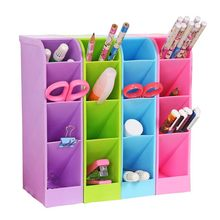 1PC Multi-Function Plastic PP Desktop Storage Box Case 4 Grid Sub-grid Make up Cosmetic Holder Desk Pencil Dolls Accessories Toy(China)
