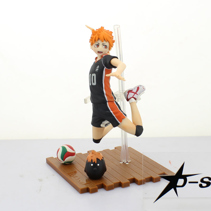 Free Shipping 7 Haikyuu!! Haikiyu!! Anime Shoyo Hinata Shyouyou Jump Ver. Boxed 17cm PVC Action Figure Model Doll Toys Gift free shipping 7 anime super sonico with macaroon tower boxed 17cm pvc action figure collection model doll toy gift