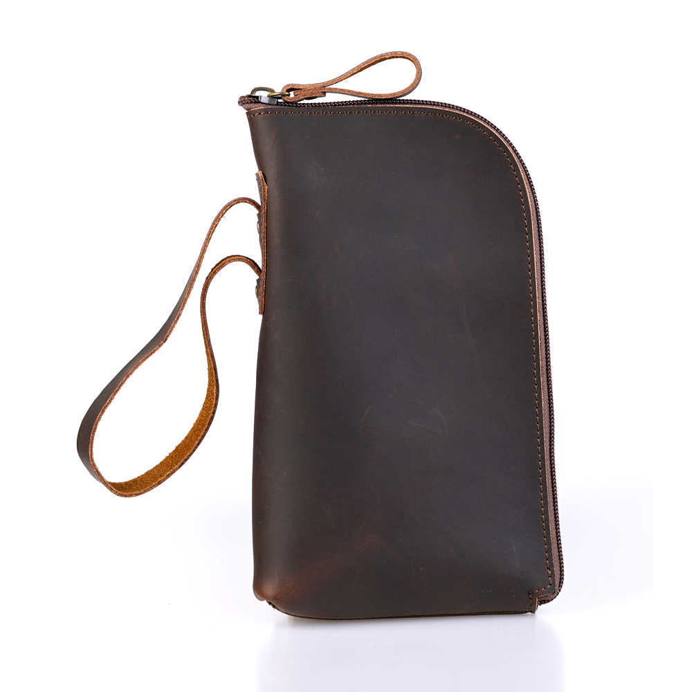 Long Zipper Wallet Female Women Purchase Designer Men Genuine Leather Clutch Vintage Smartphone Women Wristlet Purse