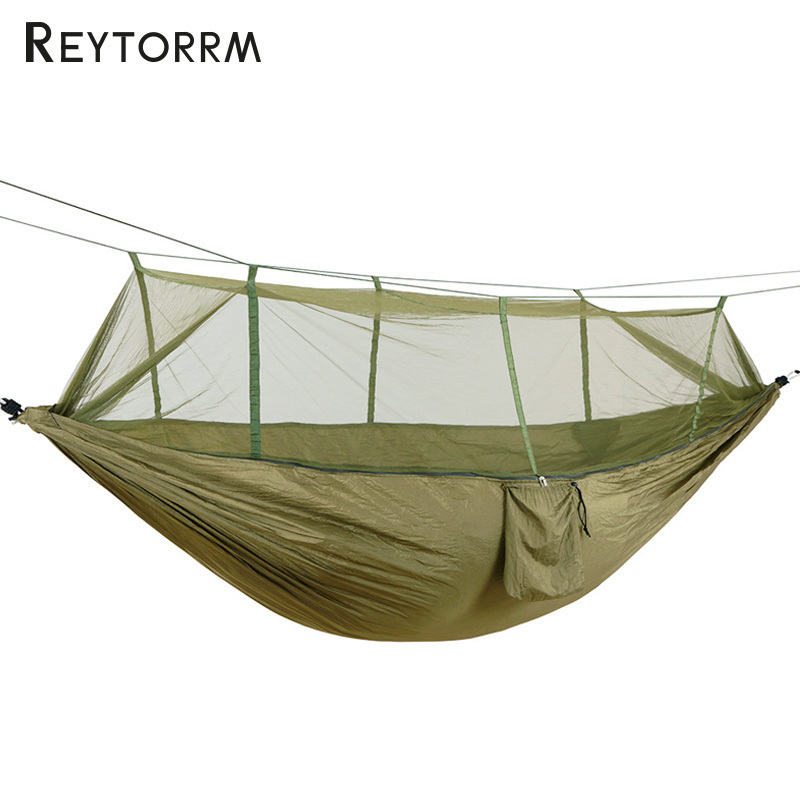 270*130cm Super Large Hammock Net Anti-Mosquito Durable Hanging Sleeping Hamac Outdoor Indoor Camping Survival Tree Bed Hamak 2 people portable parachute hammock outdoor survival camping hammocks garden leisure travel double hanging swing 2 6m 1 4m 3m 2m