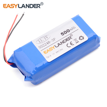 152248 502248-3P 11.1V 500mAh  Rechargeable  li Polymer Li-ion Battery For electronic product  Bluetooth Speaker DIY toys