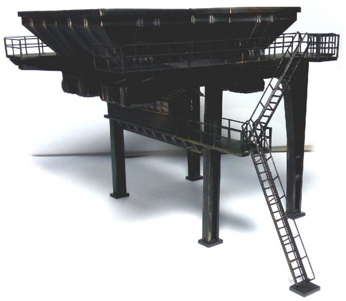 1 87 Model Train ho scale diy architectural stoker funnel material sand table Model materials Free