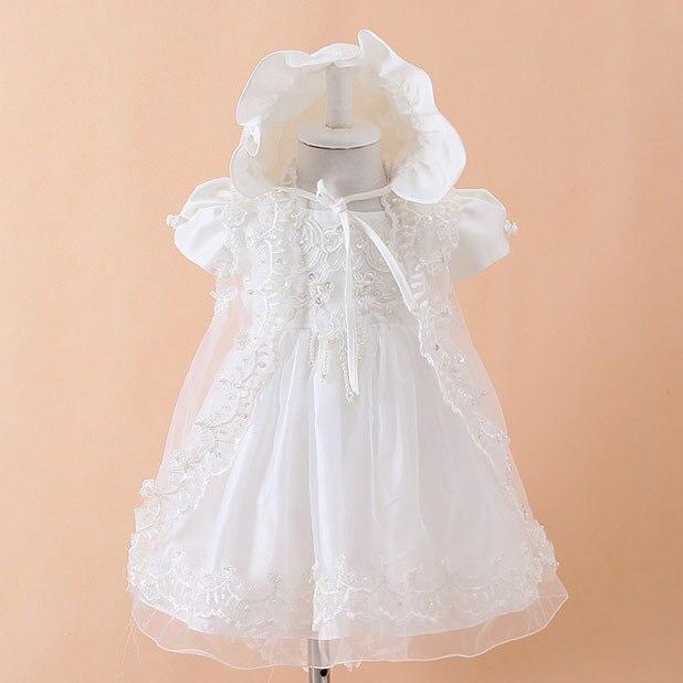 Bebé Niñas bautizo con sombrero bebé del banquete de boda del ...