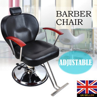 Shellhard Adjustable Barber Chair Styling Recline Hydraulic Hair Salon Barber Salon Chair Black Home Furniture