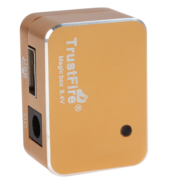 TrustFire 8.4V Exquisite Magic Box Battery Pack Adapter with Micro USB Output for LED Bicycle Light / Mobile Phone / MP3 /Tablet