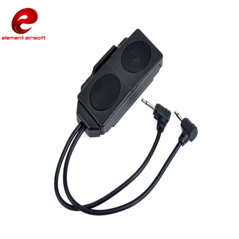 Element Airsoft Double Button Switch for Tactical Flashlight Applie to Remote Control Lantern for Hunting Weapon Light Equipment