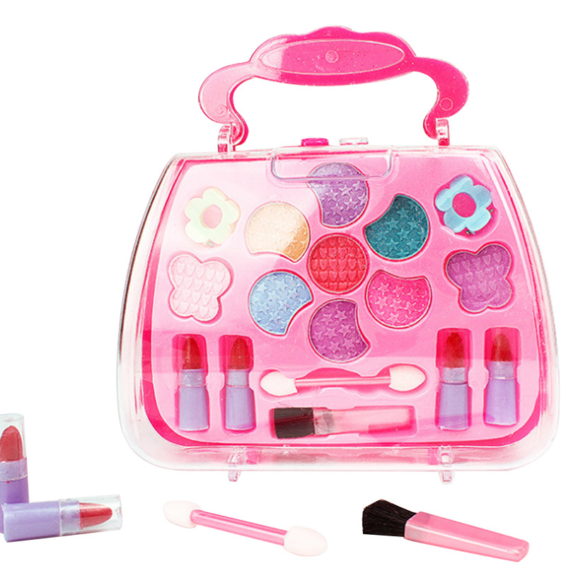 1set Cute Dream Children's Makeup Cosmetics Easy To Clean Lipstick Eyeshadow Blush Non-toxic Parent-child Interaction Action
