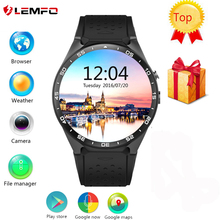 New Lemfo KW88 Android 5.1 OS Smart Watch Phone MTK6580 ROM 4GB + RAM 512MB 1.39 inch 400*400 Screen 2.0MP Camera Smartwatch